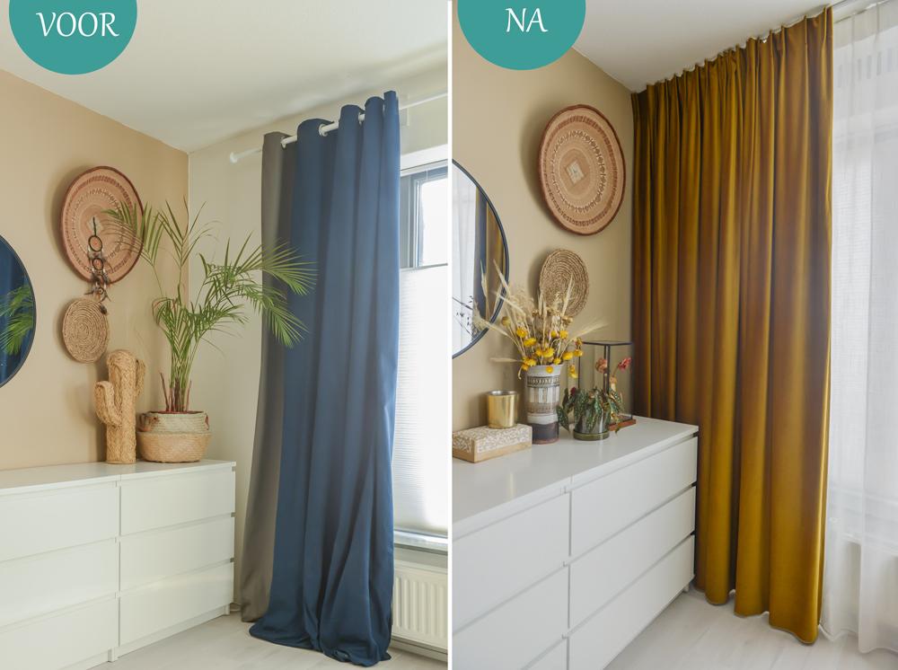 Slaapkamer make-over met gordijnen op maat ©BintiHome